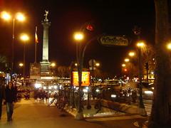 Entrada del metro Bastille en París