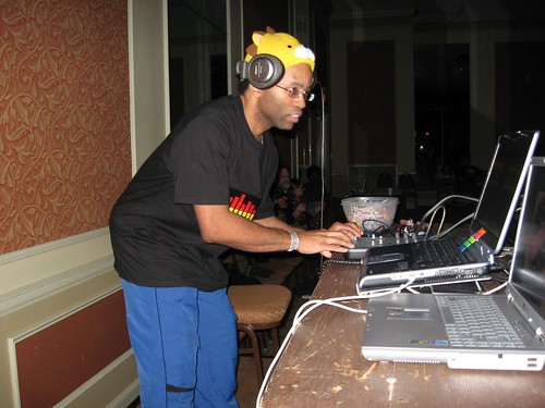 Brian DJing for Rave @ JAMPcon