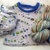 NB Owls Set <br>Top & Diaper by Cotton Candy <br>Yarn by Uberknits