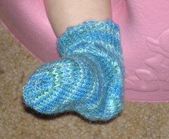 one little blue sock