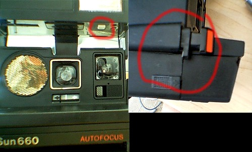 Vintage polaroid supercolor 635 instant camera & instruction.