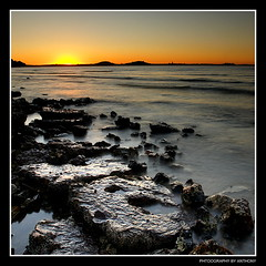 The Yolk (anthonyko) Tags: longexposure sunset newzealand coast auckland yolk blueribbonwinner sonyr1 nothdr diamondclassphotographer flickrdiamond kohimaramayachtclub
