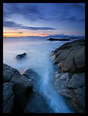 Sea and Rock (orvaratli) Tags: ocean travel sunset sea seascape rock landscape iceland atlanticocean reykjanes icelandic arcticphoto rvaratli orvaratli