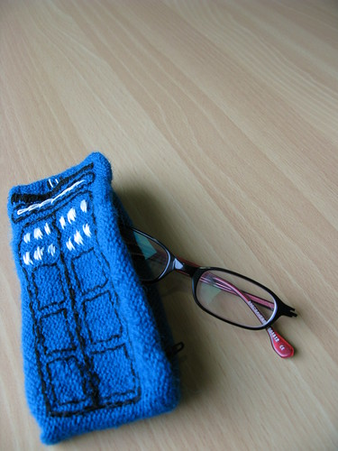 TARDIS glasses case
