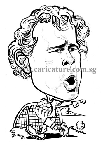 Caricature of Jens Lehman ink watermark