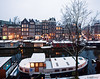 Amsterdam. (alamsterdam) Tags: amsterdam brouwersgracht snow architecture reflection houseboats canal