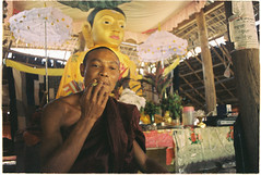 (tayn3) Tags: myanmar burma rakhinestate arakan monk shrine buddha buddhist southeastasia nikonf3 nikonseriese 28mm wideangle analog analogue mrauku vesali wethali 35mm film expired expiredfilm kodak max 400 kodakmax400 filmphotography shootingfilm travel traveldeeper filmism phim filmisnotdead croplab grousespouse