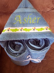 Blue Alligator Hooded Towel (spiritofgiving) Tags: towels custom personalized hooded