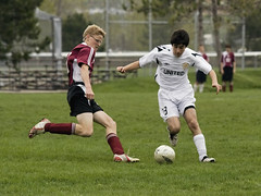 vs. FEDS 036 (Rock Steady Images) Tags: canada canon spring soccer handheld orangeville rebelxt 50views 25views photoshopcs3 canonef70300mmf456 7pointsystem bypaulchambers topazvivacity southsimcoeunitedu15boys stormfront2009 rocksteadyimages