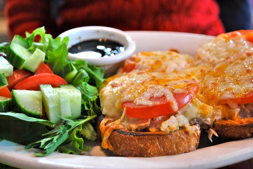Tuna melt and salad, at A Full Plate Cafe