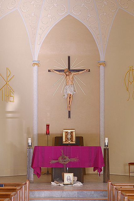 Saint Gertrude Roman Catholic Church, in Grantfork, Illinois, USA - sanctuary