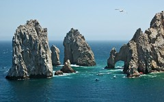 The Land's End (Serge Freeman) Tags: ocean seascape nature mexico rocks arch horizon aerial cliffs cabosanlucas