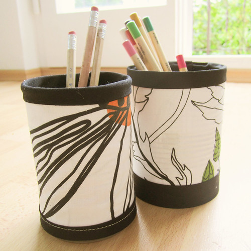 Decorated pencil cups for #30daysofcreativity