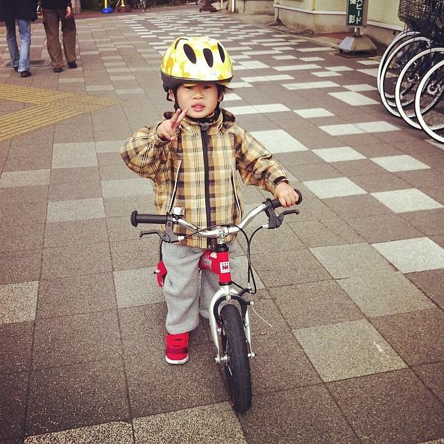 へんしんバイクでピース!リュウくんカッコいい! #へんしんバイク #ホビーバイク #試乗