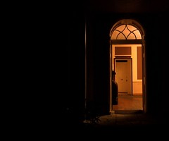 Old Hall (Simon_K) Tags: door strange beautiful night dark wonder suffolk darkness echoes enigma doorway dreams anticipation tseliot eastbergholt oldhall 10faves fourquartets