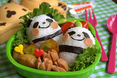 Panda bento box (luckysundae) Tags: panda bento lunchbox cutebento obentobox kyaraben