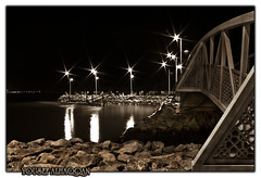Sepia bridge (U_SF) Tags: bridge sepia night canon eos rebel long exposure shot 1855 update tone usf smorgasbord yousef picturecollection vwc xti alhaqqan kuwaitvoluntaryworkcenter opoct2007 alwatya