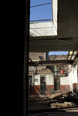 542 Vanderbilt demolition (threecee) Tags: hardhat newyork brick architecture brooklyn steel demolition beam worker prospectheights demolished deanstreet tinceiling vanderbiltavenue atlanticyards forestcityratner dsc5560 wardbreadbakerybuilding tracycollinsphotography 542vanderbiltavenue block1129lot50 542vanderbiltave