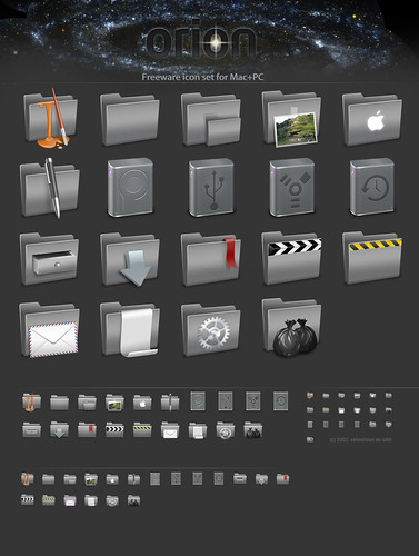 Orion icon set sheet.