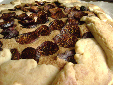 Julie's figs and frangipane crostata