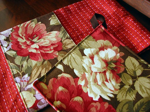 floral potholder set