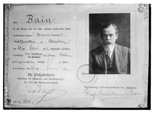 German drivers license - Bain (LOC)