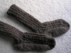 Hubby's Handspun Handknit socks