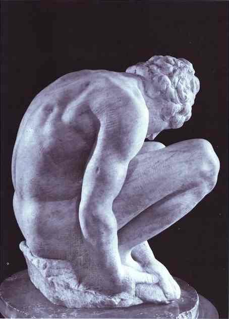 MICHELANGELO, Buonarroti Crouching Boy, c1524
