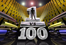 1 vs 100 logo  can you go head to head against a hundred people