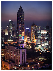 skyline (staffh) Tags: china city urban building tower skyline architecture skyscraper skyscrapers shanghai towers staff metropolis tall   nanjing shanghaiist density dense nanjingroad peoplessquare  plaza66 urbanity tomorrowsquare   nanjingxilu