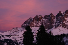 Dents du Midi, Sunset