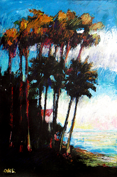 Pinellas Point Knife Painting
