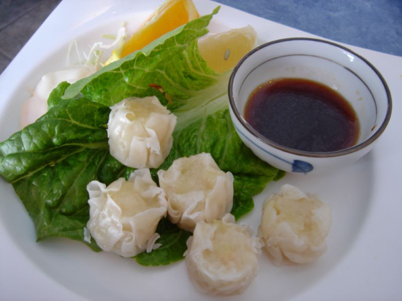 Steamed shrimp shumai
