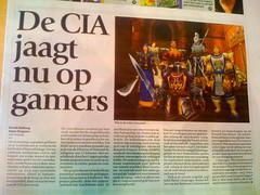 """""""CIA hunts gamers"""" story in Dutch Paper"""