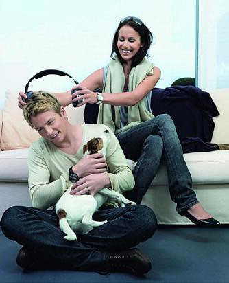 Photo of Kimi Raikkonen & his  Dog  Peppi