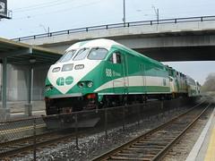 GO Train's New Locomotive (Can Pac Swire) Tags: toronto canada train go loco transit locomotive 608 mp36ph danforthstation
