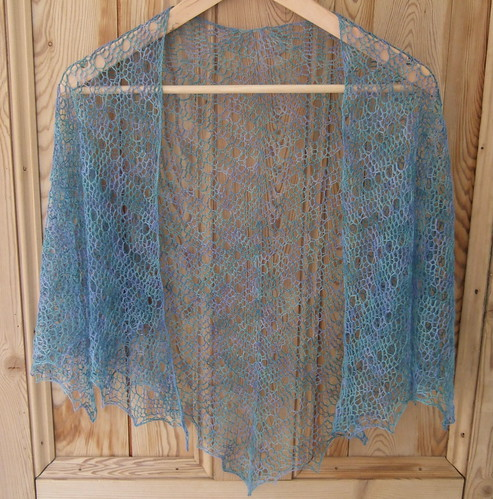 spring shawl finished