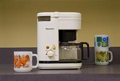 Panasonic NC-A1U Coffee Maker - 1 (studiosmith) Tags: vintage mugs plastic allrightsreserved midcenturymodern midcentury coffeemaker glasbake milkglass panasonicnca1u studiosmith studiosmith20062010 studiosmith studiosmith2013