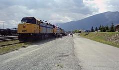 1998_canada_023.jpg (nothingtoseehere) Tags: mountain canada station train rockies jasper rocky rail railway canadian via alberta 1998 transcontinental