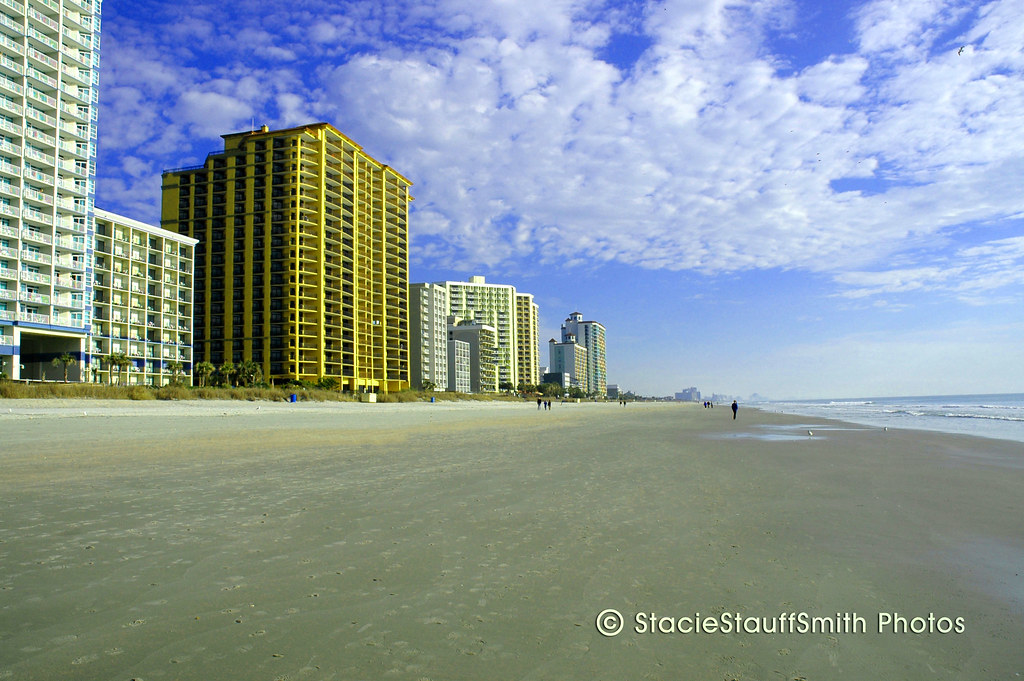 Looking North At The Brand New Anderson Ocean Club And Spa Beach Resort Myrtle Beach