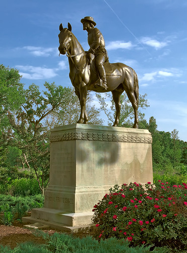 General Franz Sigel statue, in Forest Park, Saint Louis, Missouri, USA