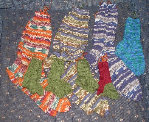 knitting bag socks