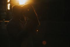 365-246 February 23 (eblinn) Tags: couple people city engagement portrait underexposed magiclight goldenhour dallas