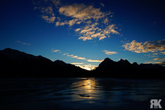 Abraham Lake Sunrise (ryan.kole32) Tags: abrahamlake lake sunrise bluesky clouds jasper jasperalberta jaspernationalpark nationalpark alberta canada canadianrockies rockies rockymountains landscape nature beauty beautyinnature travel outdoors hiking winter ice cold frozen perspective reflection naturallight light sony sonya77 teamsony