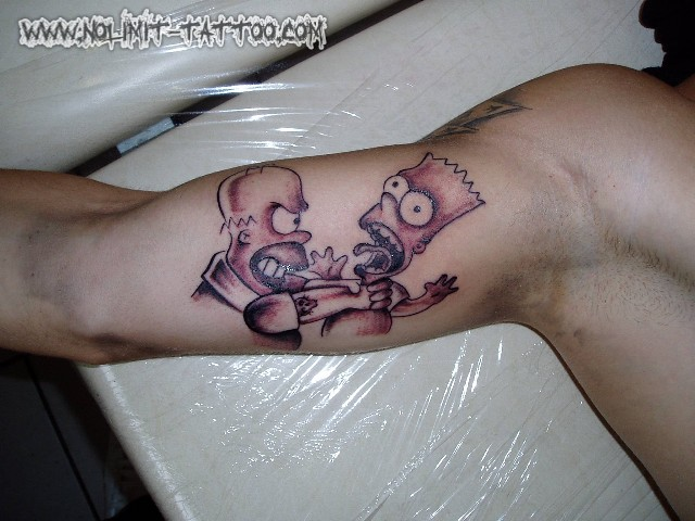 Simpsons Tattoo. Tattoos by Marc (www.nolimit-tattoo.com)