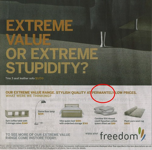 Freedom furniture - what were they thinking?
