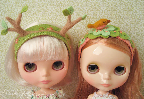 tree and bird headbands