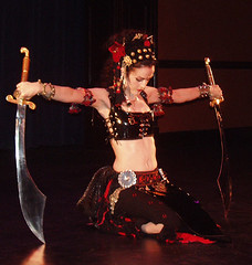 """""""Solo in Seattle"""" 3 (deathkitten9000) Tags: theater experimental gothic sharon tribal double sword maureen bellydance fusion troupe kihara soloinseattle"""