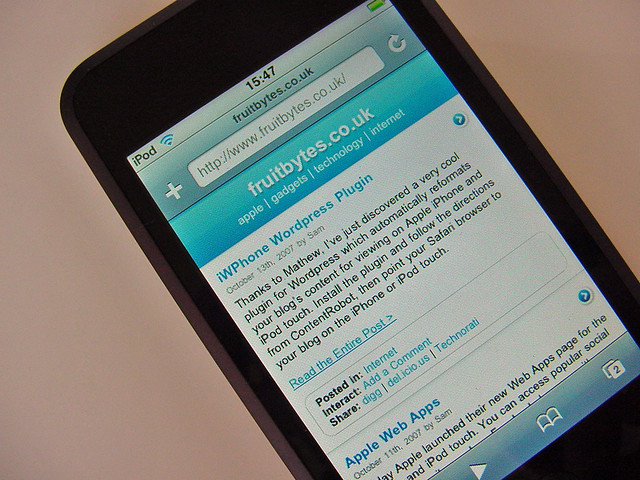 Wordpress Plugin for iPhone/iPod touch
