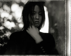Fossil of Time III (TommyOshima) Tags: girl monochrome face exhibition type55 graflex misa tiltshift speedgraphics hugomeyer trioplan mishan nagune misaitoi